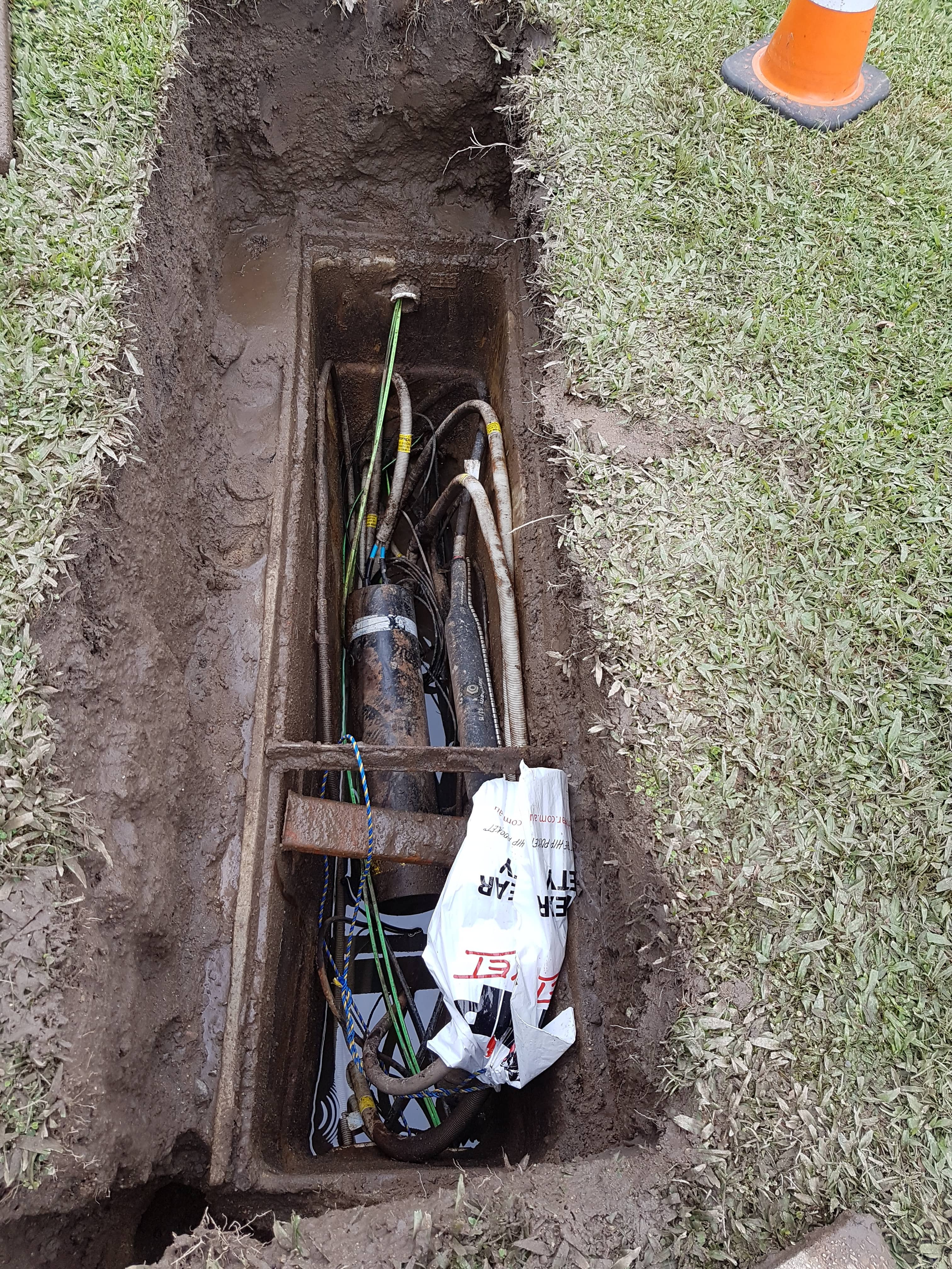 Exposing Buried Telstra Pit